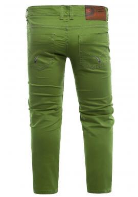 Zelené klasické chinos nohavice pre pánov