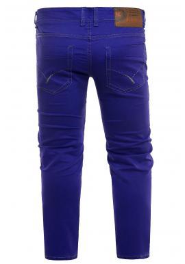 Klasické pánske chinos nohavice modrej farby