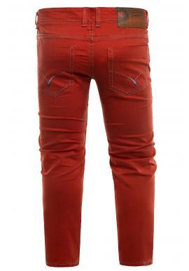 Pánske klasické chinos nohavice v červenej farbe