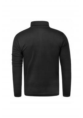 Pánsky bavlnený rolák v čiernej farbe