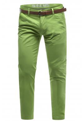 Pánske bavlnené chinos nohavice v zelenej farbe