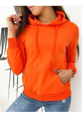 Oranžová športová mikina s kapucňou pre dámy