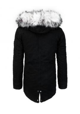 Pánska zimná parka s kapucňou v čiernej farbe