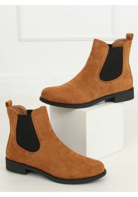 Hnedé klasické topánky s elastickými vložkami pre dámy