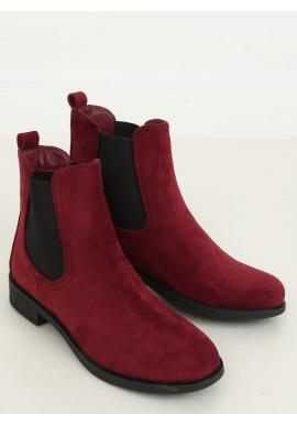 Dámske klasické topánky s elastickými vložkami v bordovej farbe