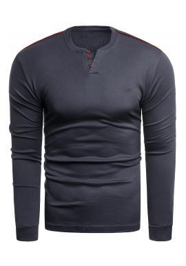 Pánsky klasický sveter v tmavomodrej farbe