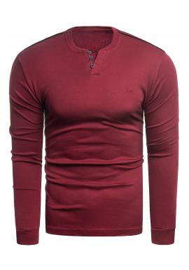 Červený klasický sveter pre pánov