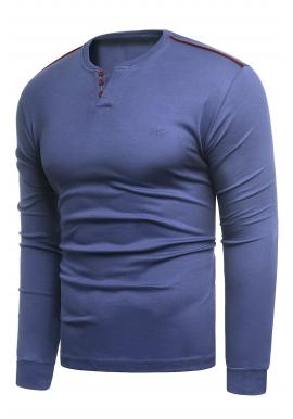 Klasický pánsky sveter modrej farby