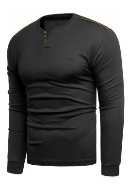 Pánske klasické svetre v čiernej farbe