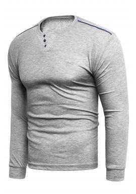 Sivý klasický sveter pre pánov