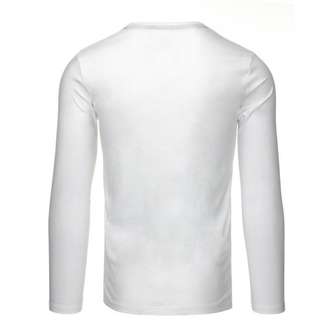 Pásikavé tričko s dlhým rukávom v tmavomodrej farbe