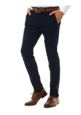 Tmavomodré elegantné Chinos nohavice pre pánov