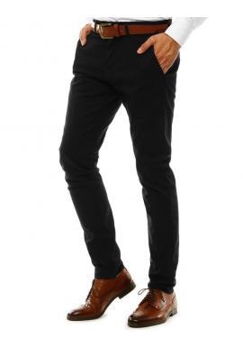 Elegantné pánske Chinos nohavice čiernej farby