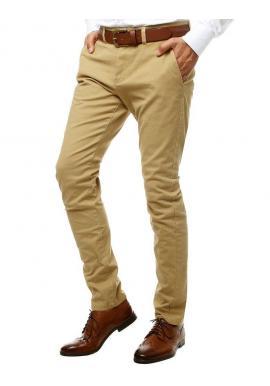 Pánske elegantné Chinos nohavice v béžovej farbe