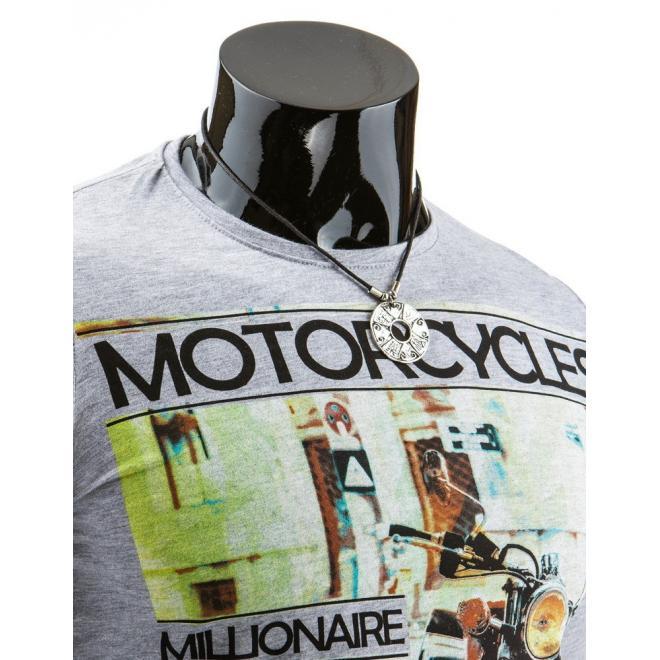 Tričko pre pánov s dlhým rukávom v bielej farbe