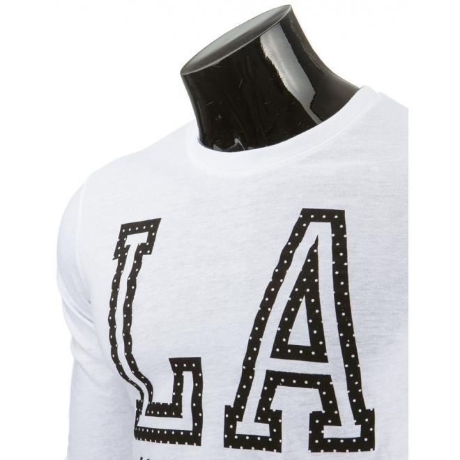 Čierne pánske tričko s dlhým rukávom a potlačou