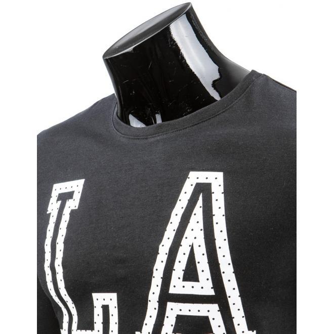 Pánske tričko v bielej farbe s dlhým rukávom