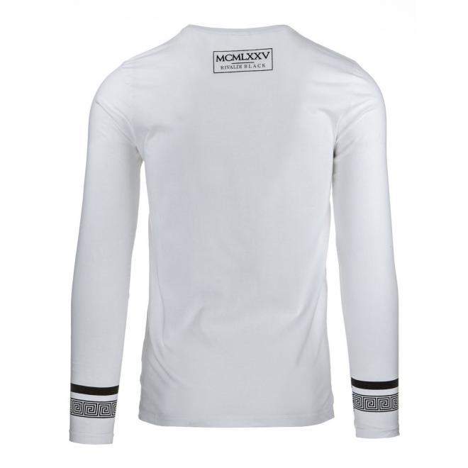 Pánske biele tričko s čiernou potlačou