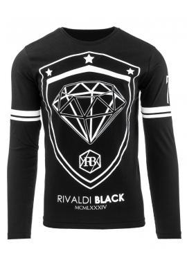 Tričko čiernej farby s bielou potlačou pre pánov