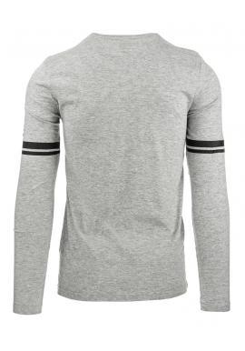 Pánske tričko s dlhým rukávom v sivej farbe