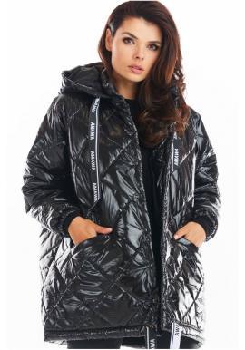 Čierna prešívaná bunda s oversize strihom pre dámy