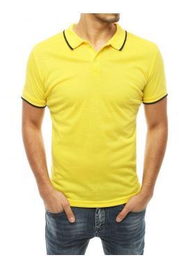 Pánska klasická polokošeľa v žltej farbe