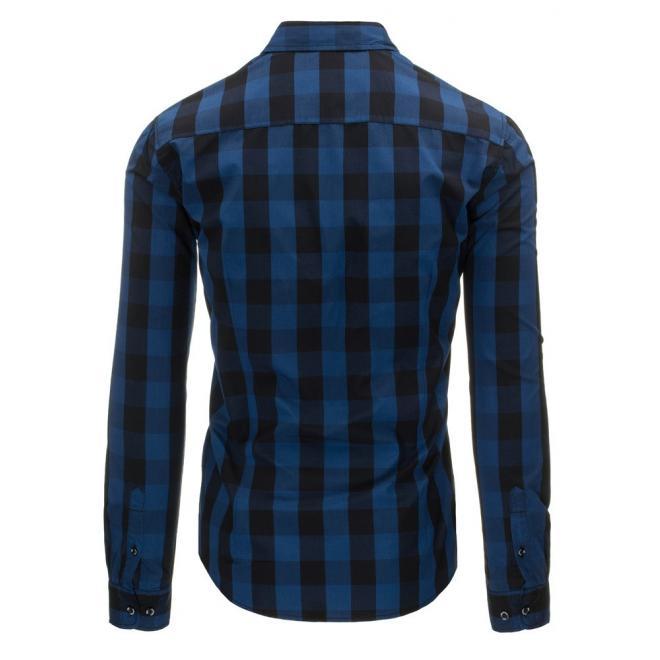 Červeno-čierna kockovaná košeľa pre pánov