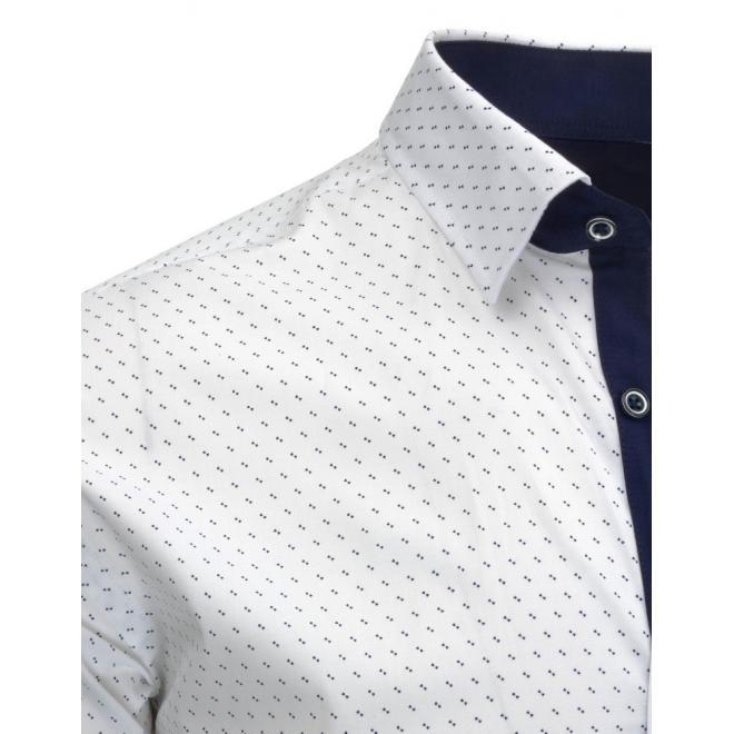 Kockovaná košeľa sivo-čiernej farby pre pánov