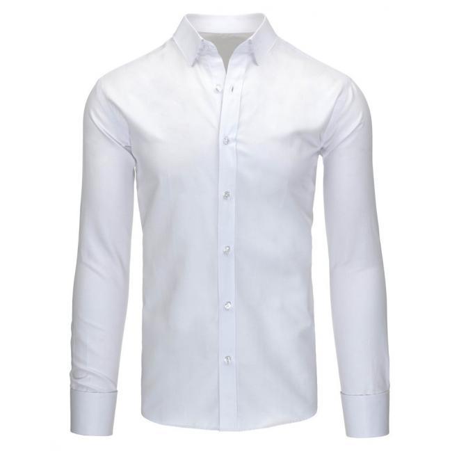 Elegantná pánska košeľa v bielej farbe so vzorom