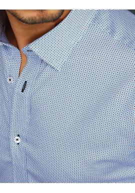 Pánska bavlnená košeľa so vzorom v bielej farbe