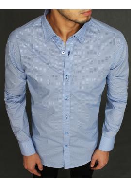 Bavlnená pánska košeľa svetlomodrej farby so vzorom