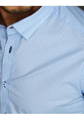 Pánska kvetovaná košeľa s dlhým rukávom v svetlomodrej farbe
