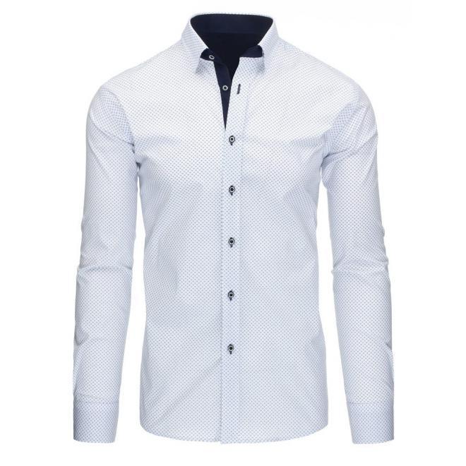 Elegantná košeľa pre pánov v sivej farbe