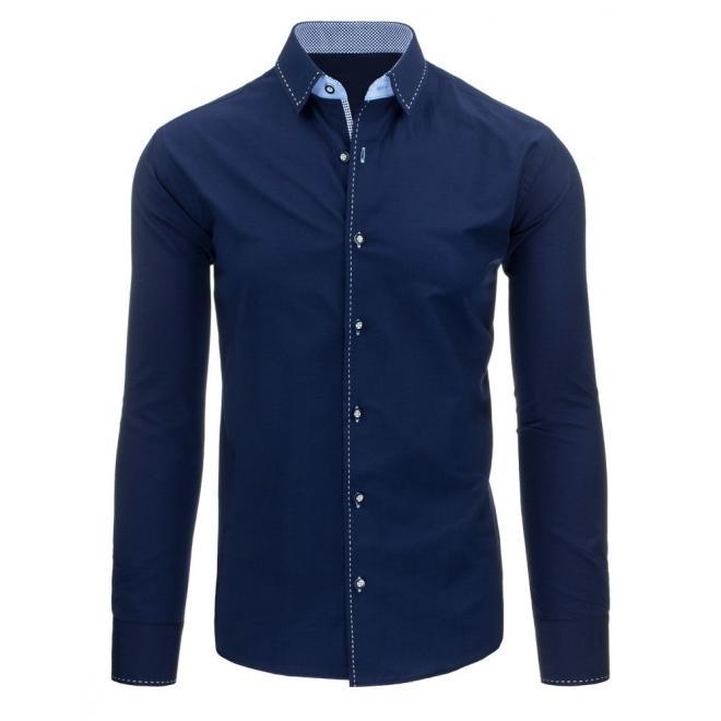 Košeľa pre pánov v bielej farbe so vzorom