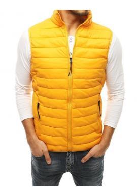 Žltá prešívaná vesta na prechodné obdobie pre pánov