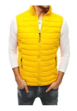 Prešívaná pánska vesta svetložltej farby na prechodné obdobie