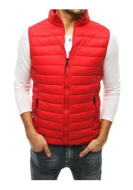 Prešívané pánske vesty červenej farby na prechodné obdobie