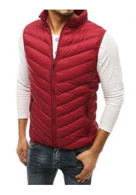 Pánka prešívaná vesta bez kapucne v bordovej farbe