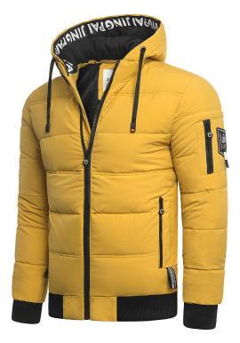 Žltá teplá bunda na zimu pre pánov