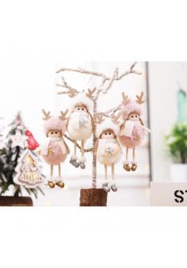 Visiaci vianočný anjel v sivej farbe
