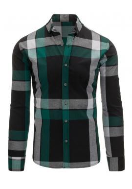 Károvaná košeľa v modro-čiernej farbe pre pánov