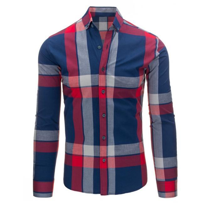 Čierno-červená pánska košeľa s károvaným motívom