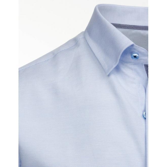 Košeľa s kockovaným vzorom vo fialovo-modrej farbe
