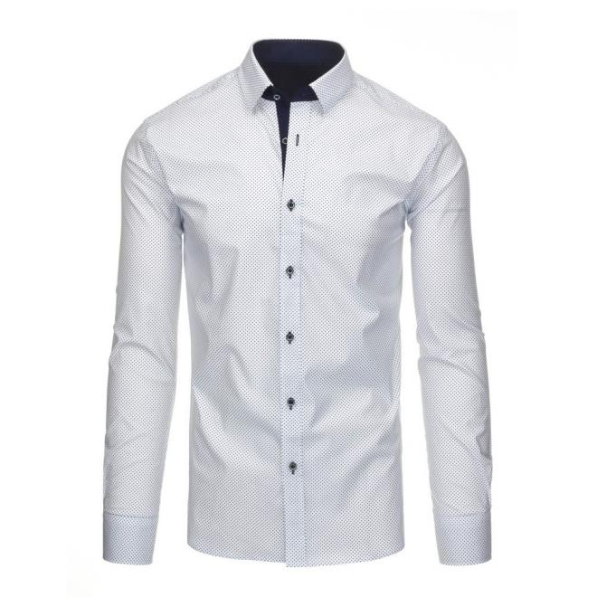 Elegantná pánska košeľa v čiernej farbe s dlhým rukávom
