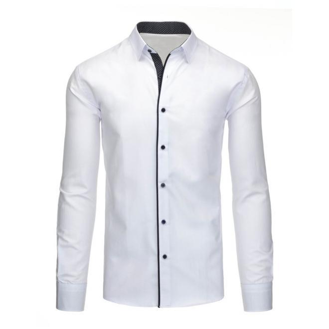 Košeľa pre pánov tmavomodrej farby so vzorom