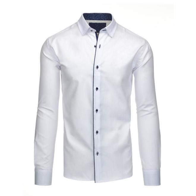 Elegantná biela košeľa s dlhým rukávom pre pánov