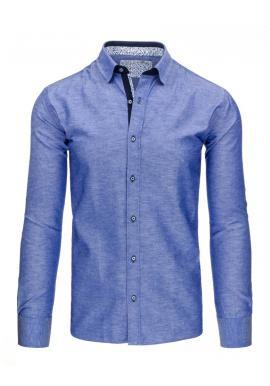 Károvaná pánska košeľa v modro-červenej farbe