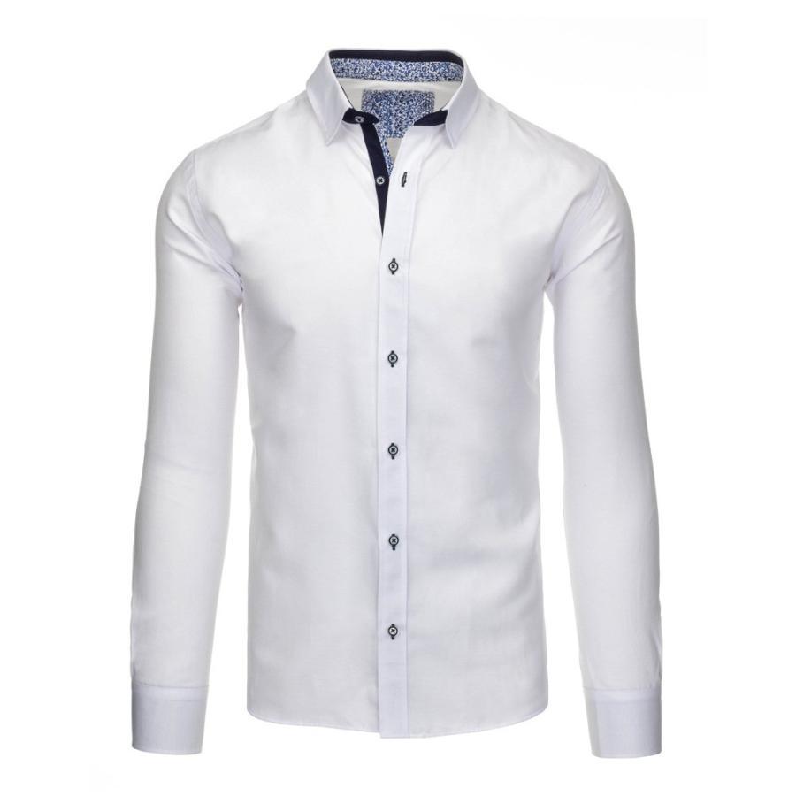 21cb5b1168af Pánska elegantná košeľa v bielej farbe. Elegantná pánska košeľa modrej  farby s dlhým rukávom. Loading zoom