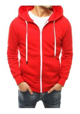 Pánska klasická mikina na zips v červenej farbe