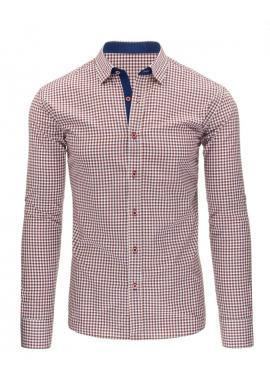4b5fd99f0f8d Károvaná pánska košeľa modrej farby s dlhým rukávom ...